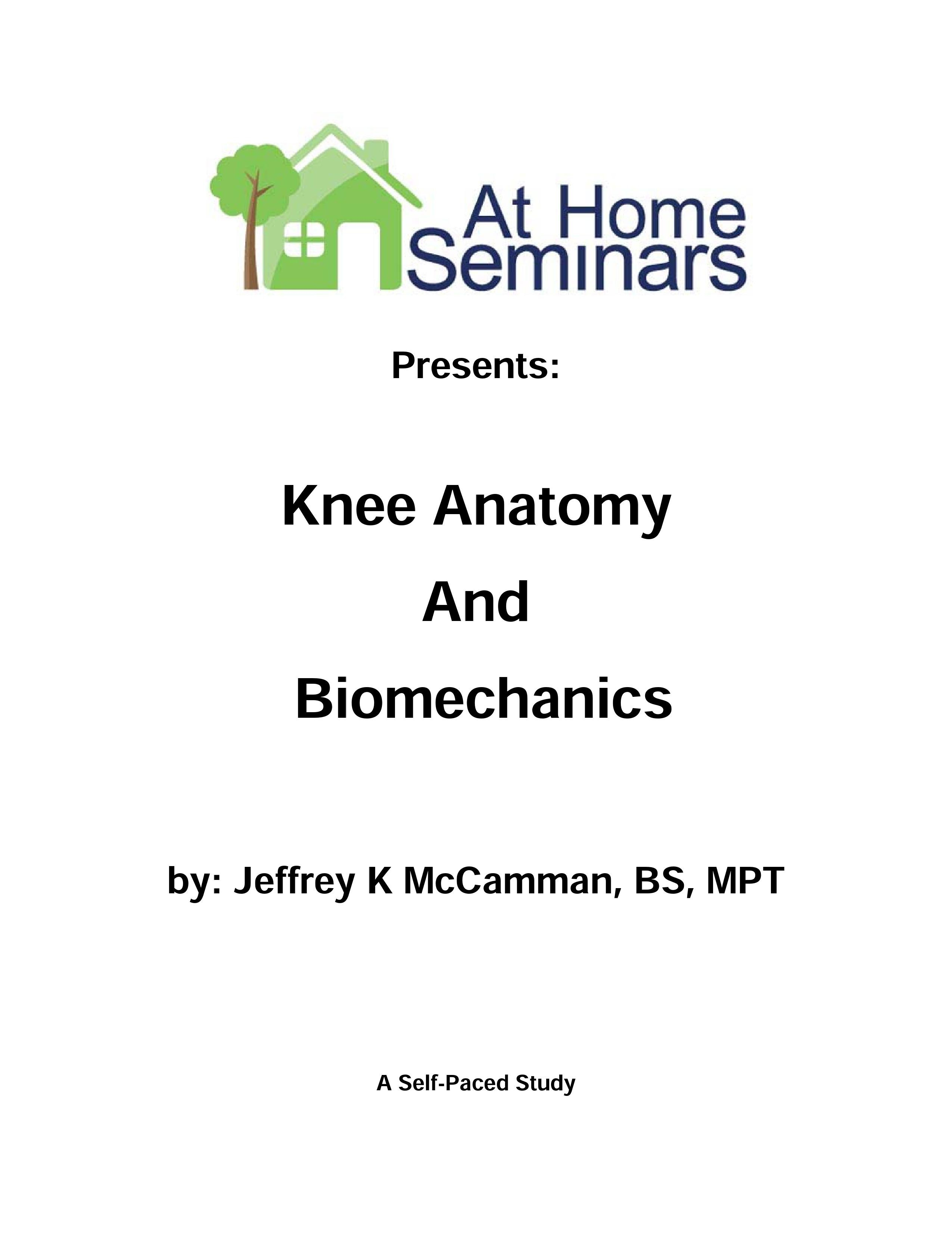Share a Course: Knee Anatomy and Biomechanics (Electronic Download)