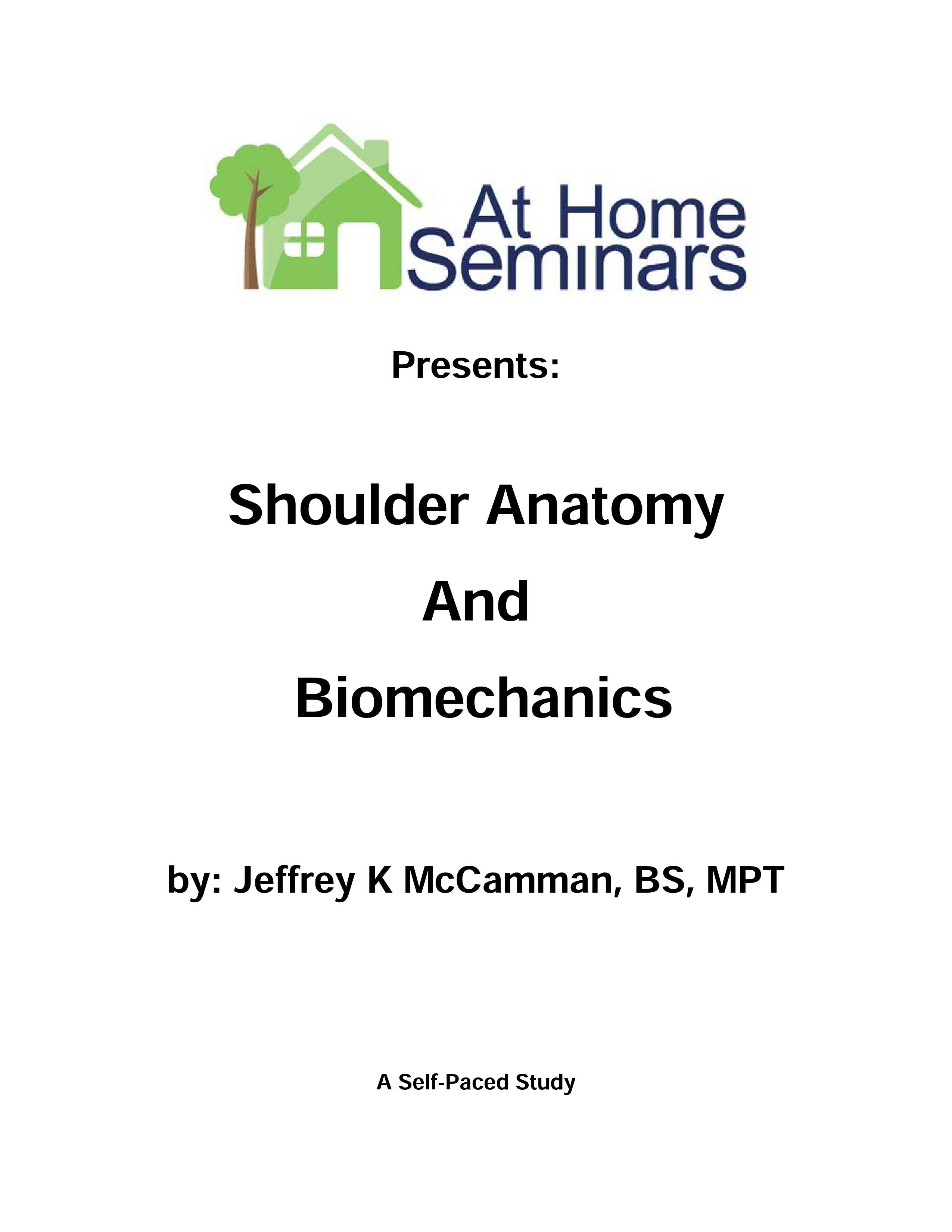 Share a Course: Shoulder Anatomy and Biomechanics (Electronic Download)
