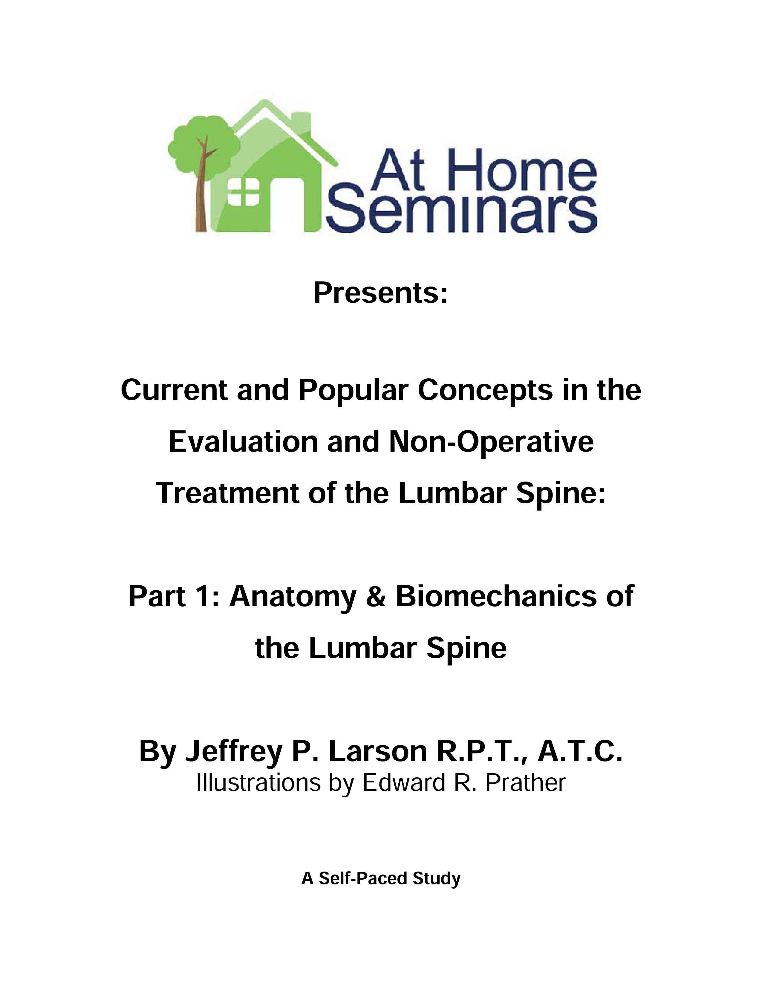 Lumbar Spine Anatomy And Biomechanics Physical Therapy