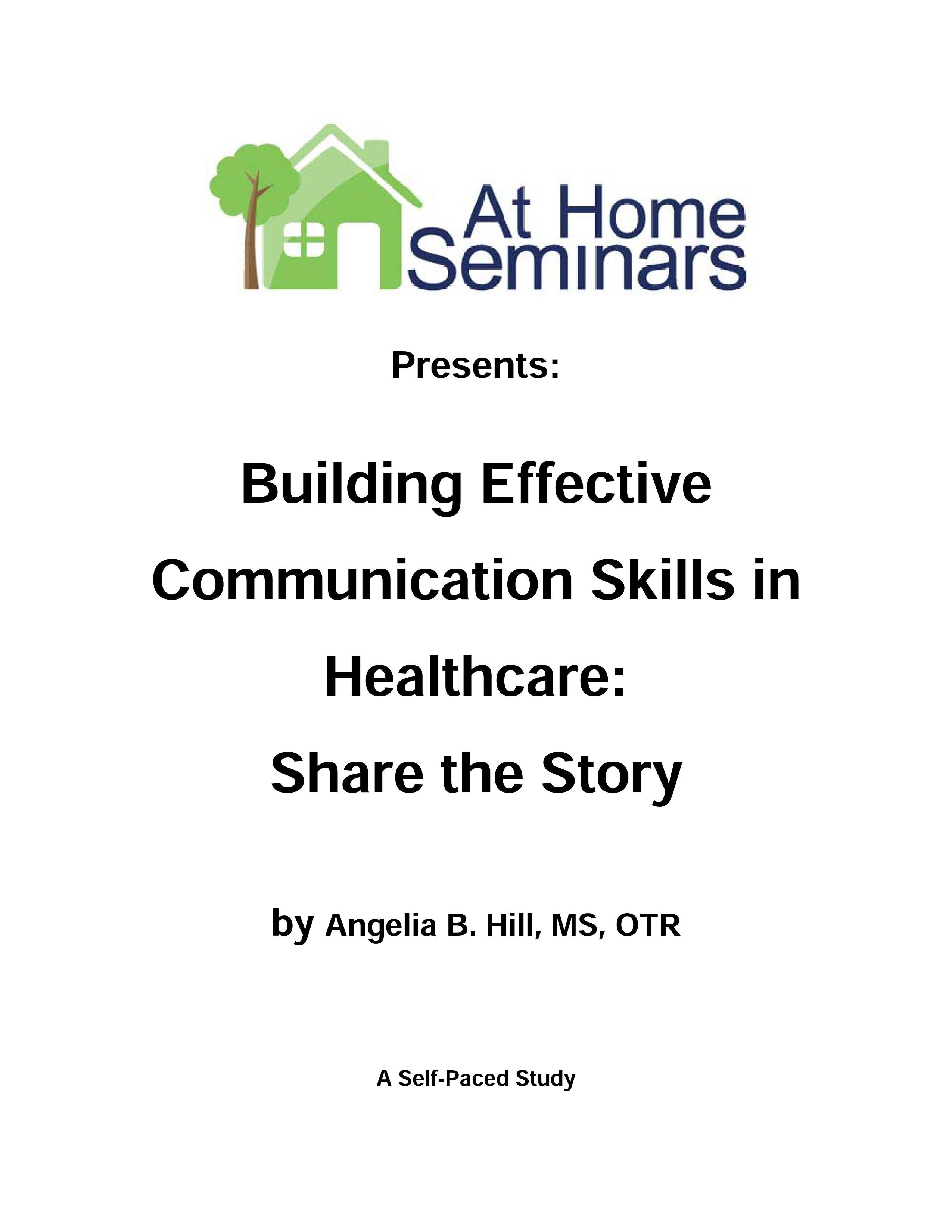Share A Course: Building Effective Communication Skills in Healthcare