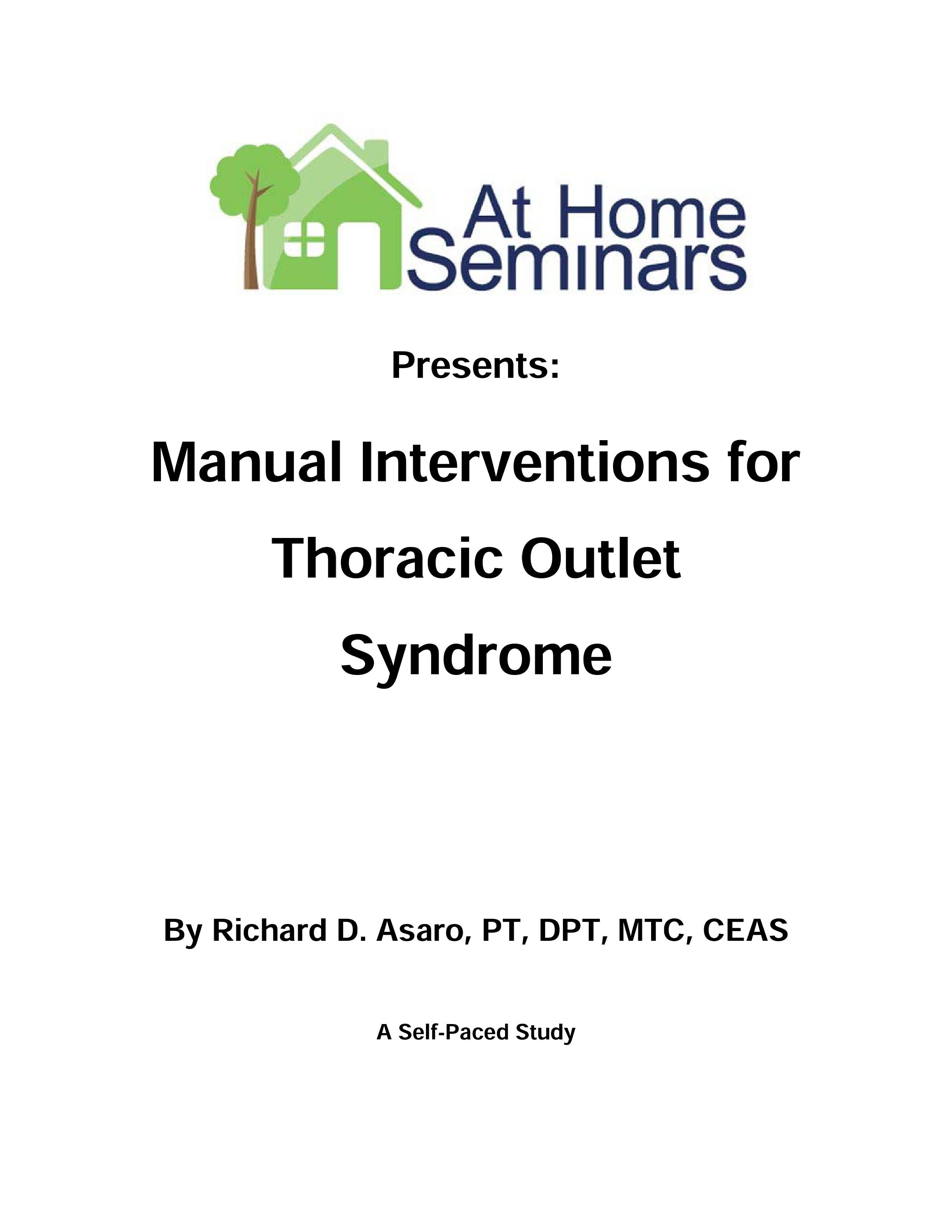 Manual Interventions for Thoracic Outlet Syndrome