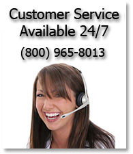 Our customer service is available 24/7. Call us at (800) 865-8013.